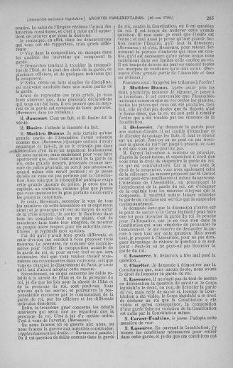 Tome 44 : Du 22 mai au 8 juin 1792 - page 285