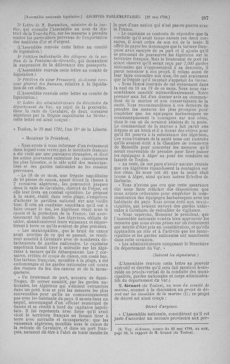 Tome 44 : Du 22 mai au 8 juin 1792 - page 287