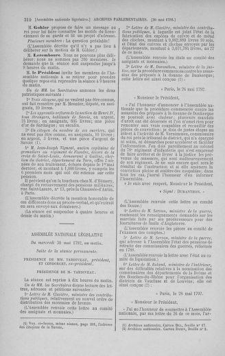 Tome 44 : Du 22 mai au 8 juin 1792 - page 310