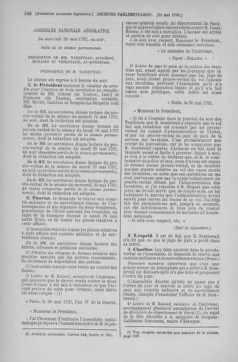 Tome 44 : Du 22 mai au 8 juin 1792 - page 348