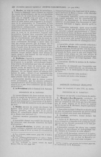 Tome 44 : Du 22 mai au 8 juin 1792 - page 428