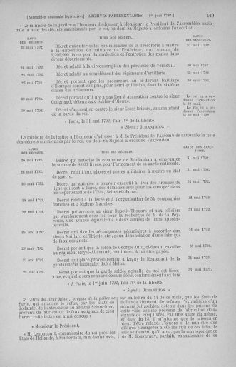 Tome 44 : Du 22 mai au 8 juin 1792 - page 429