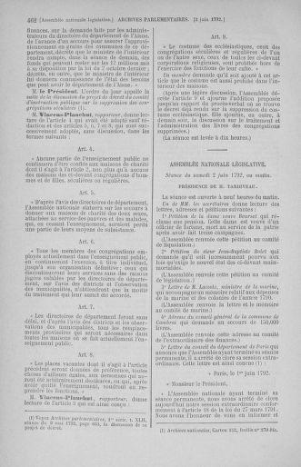 Tome 44 : Du 22 mai au 8 juin 1792 - page 462