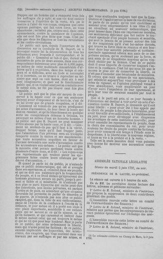 Tome 44 : Du 22 mai au 8 juin 1792 - page 624