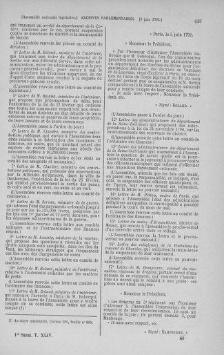 Tome 44 : Du 22 mai au 8 juin 1792 - page 625