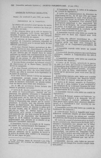 Tome 44 : Du 22 mai au 8 juin 1792 - page 688