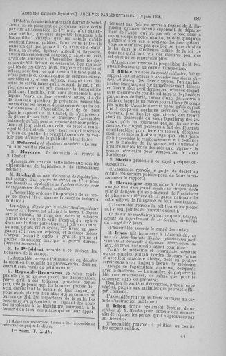Tome 44 : Du 22 mai au 8 juin 1792 - page 689