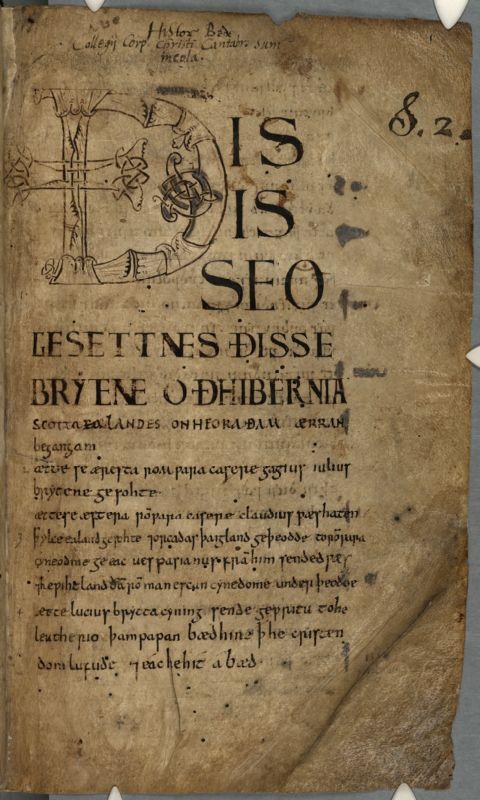 Cambridge, Corpus Christi College, MS 041: Old English Bede