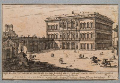 Palazzo Farnese, veduta generale da via Giulia