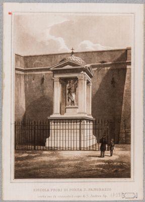 Mura Gianicolensi con l'edicola a S. Andrea