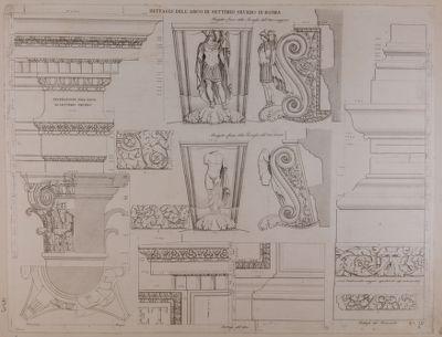 Arco di Settimio Severo, particolari architettonici