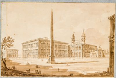 Piazza di S. Giovanni in Laterano, con obelisco