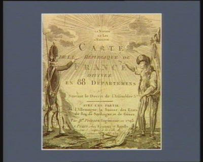 Carte de la République de France divisée en 88 départements suivant le décret de l'Assemblée n.ale... : [estampe]