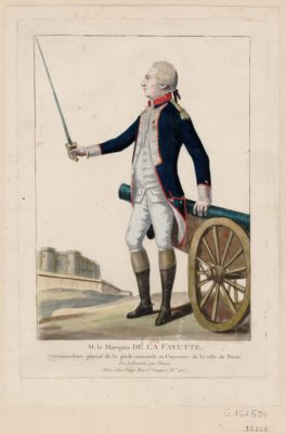 M. le marquis de La Fayette commandant-général de la Garde nationale et citoyenne de la ville de Paris : Pro libertate, pro patria : [estampe]