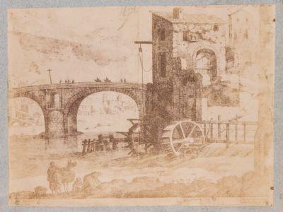Ponte Rotto o Emilio, molino presso il ponte