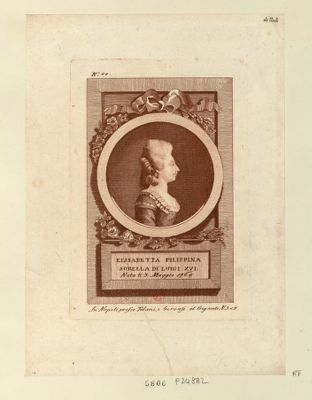 Elisabetta Filippina sorella di Luigi XVI nata li 3 maggio <em>1764</em> : [estampe]