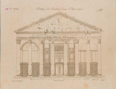 Pantheon, portico, stato attuale
