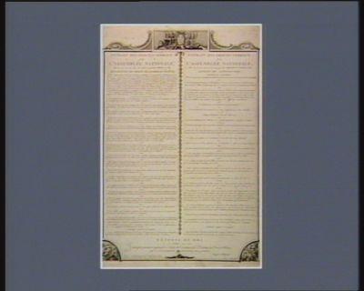 Extrait des procès-verbaux de l'Assemblée nationale Extrait des procès-verbaux de l'Assemblée nationale... : <em>déclaration</em> des droits de l'homme en société... : Articles de Constitution... : [estampe]