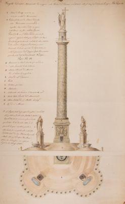 Colonna di Pio IX, progetto