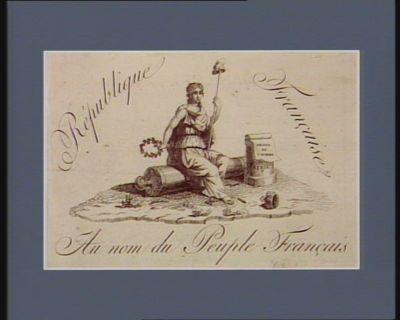 Republique Française Au nom du Peuple Français : [estampe]