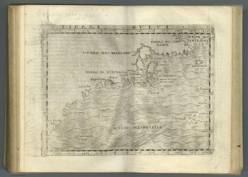 Tierra Nueva. (to accompany) Ptolemeo. La geografia di Claudio Ptolemeo alessandrino    ... In Venetia, ... per Gioan. Baptista Pedrezano ... Anni x. M.D.XLVIII (1548)