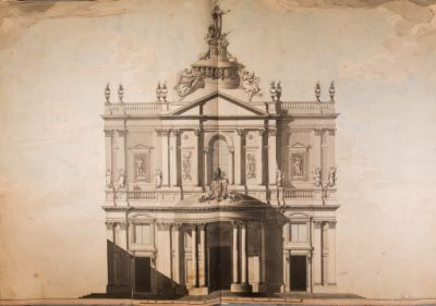 Chiesa di S. Maria della Pace, facciata e progetto