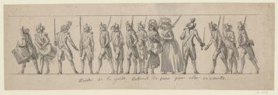 <em>Marche</em> de la Garde national de Paris pour aller a <em>Versaille</em> [dessin]