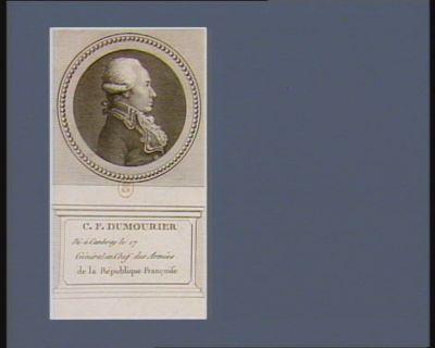 C.F. Dumourier né à Cambray le 17 [...], général en chef des armées de la République Française : [estampe]