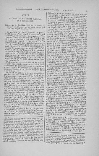 Tome 22 : Du 3 janvier au 5 février 1791 - page 19