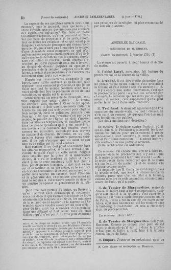 Tome 22 : Du 3 janvier au 5 février 1791 - page 20