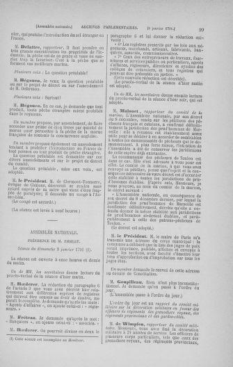 Tome 22 : Du 3 janvier au 5 février 1791 - page 99