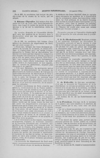 Tome 22 : Du 3 janvier au 5 février 1791 - page 118