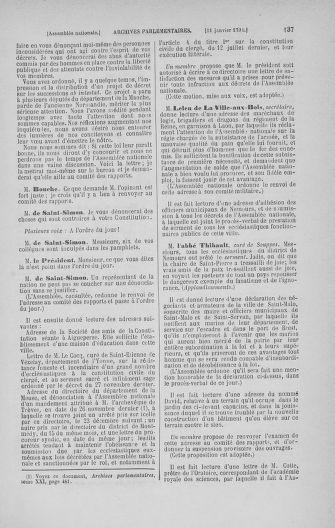Tome 22 : Du 3 janvier au 5 février 1791 - page 137