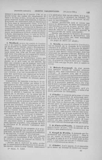 Tome 22 : Du 3 janvier au 5 février 1791 - page 145