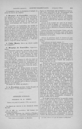 Tome 22 : Du 3 janvier au 5 février 1791 - page 205
