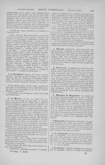 Tome 22 : Du 3 janvier au 5 février 1791 - page 209