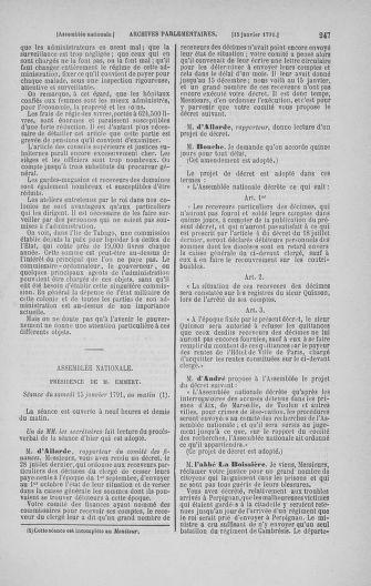 Tome 22 : Du 3 janvier au 5 février 1791 - page 247