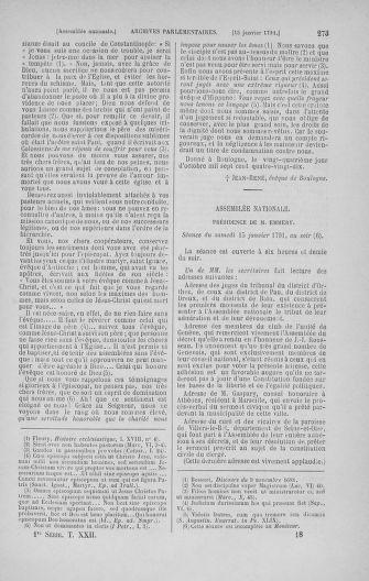Tome 22 : Du 3 janvier au 5 février 1791 - page 273