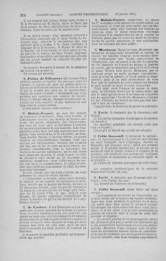 Tome 22 : Du 3 janvier au 5 février 1791 - page 274