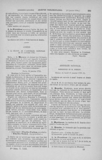 Tome 22 : Du 3 janvier au 5 février 1791 - page 289