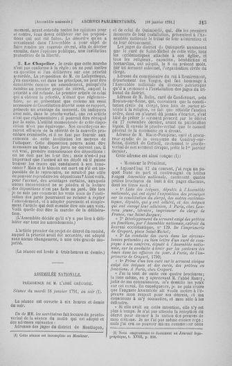 Tome 22 : Du 3 janvier au 5 février 1791 - page 315