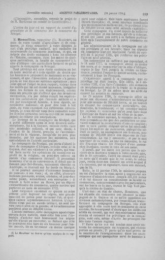 Tome 22 : Du 3 janvier au 5 février 1791 - page 319