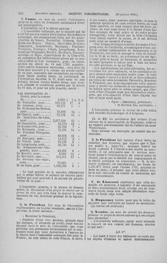 Tome 22 : Du 3 janvier au 5 février 1791 - page 326