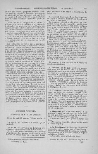 Tome 22 : Du 3 janvier au 5 février 1791 - page 337