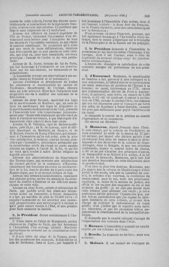Tome 22 : Du 3 janvier au 5 février 1791 - page 349
