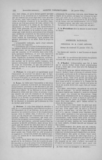 Tome 22 : Du 3 janvier au 5 février 1791 - page 356