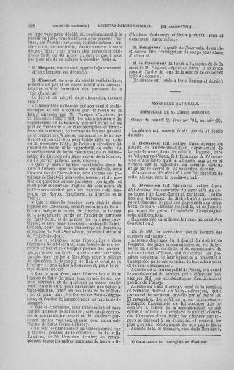 Tome 22 : Du 3 janvier au 5 février 1791 - page 422