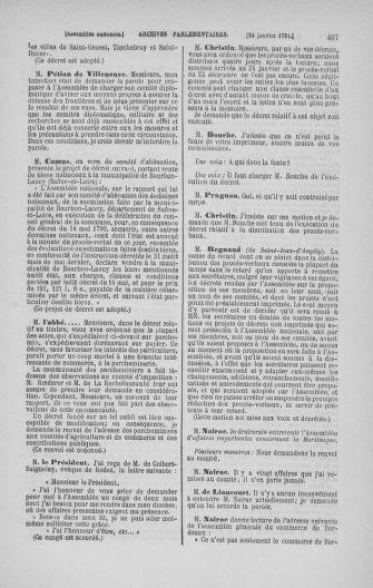 Tome 22 : Du 3 janvier au 5 février 1791 - page 467