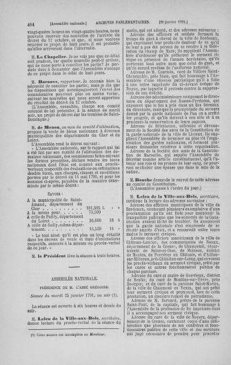 Tome 22 : Du 3 janvier au 5 février 1791 - page 484