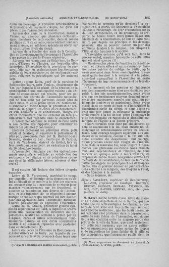Tome 22 : Du 3 janvier au 5 février 1791 - page 485